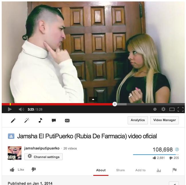 Jamsha Sobrepasa Los 108 Mil Views En 33 Horas Con Su Nuevo Video.