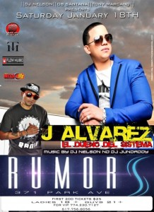 nelflow 218x300 - Evento: J Alvarez @ Rumors (Worcester, MA) (18 de enero)