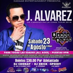 jal 300x300 - Evento: J Alvarez @ House of Blues (Orlando, FL) (23 de Agosto)