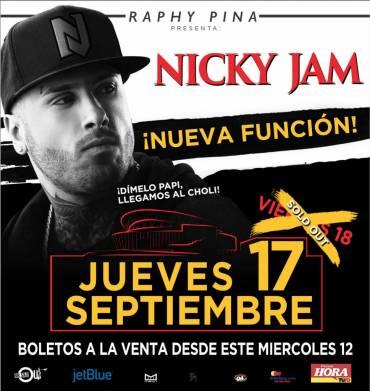 Nicky Jam abre segunda función de su concierto en Puerto Rico