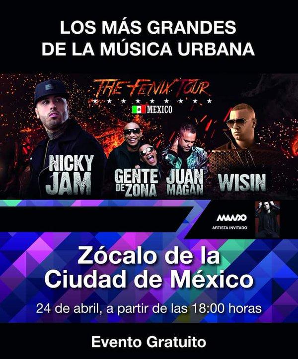 CgnCf sVEAAJR7k - el Zócalo (CDMX) te espera al ritmo de reggaetón