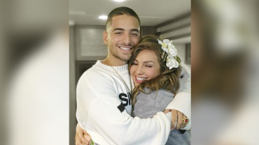 thalia graba video con maluma 370x208 - Thalía, Natti Natasha – No Me Acuerdo (Official Video)