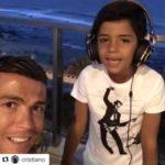 Hijo de Cristiano Ronaldo cautiva las redes cantando canción de Nicky Jam