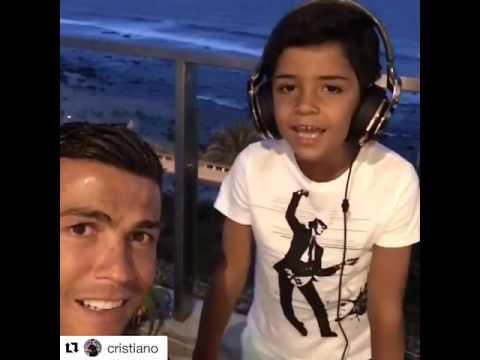 hijo de cristiano ronaldo cautiv - Hijo de Cristiano Ronaldo cautiva las redes cantando canción de Nicky Jam