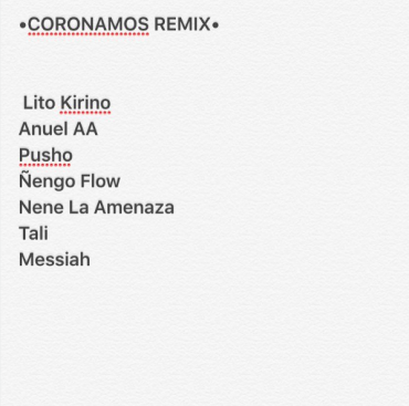 "1469318529coronamos - Artistas Que Participaran En ""Coronamos Remix"""