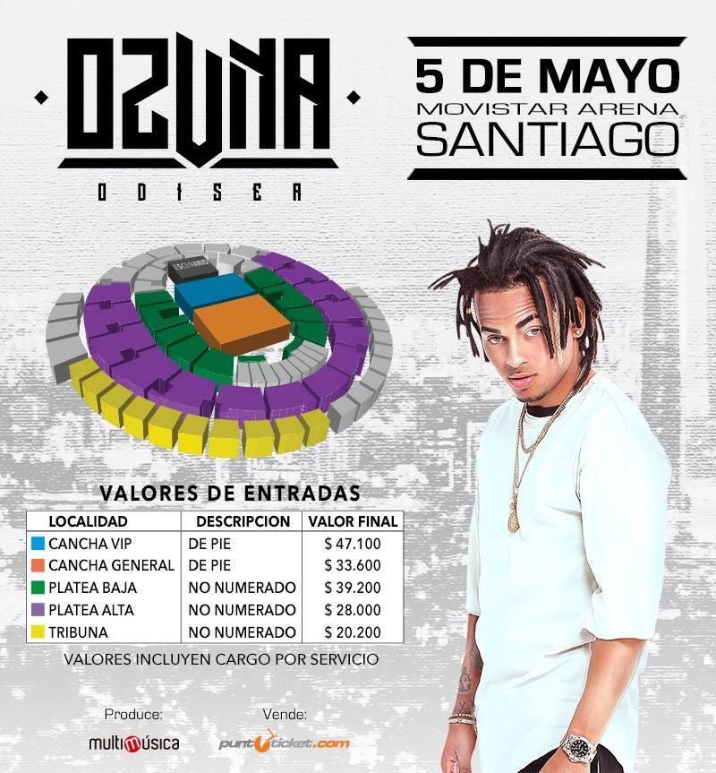 mayo - Ozuna @ 5,Mayo Movistar, Arena (Santiago, Chile) (Concierto)
