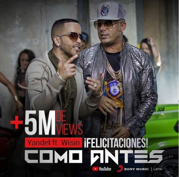"""Como Antes - Más de 5 Millones para el videoclip: """"Como Antes"""" de Yandel & Wisin"""