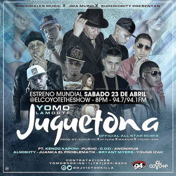 7atwn3re7wi9 - Yomo Ft. Kendo Kaponi, Pusho, D.OZi, Anonimus, Almighty, Juanka 'El Problematik', Bryant Myers Y Young Izaak - Juguetona (Official All Star Remix)