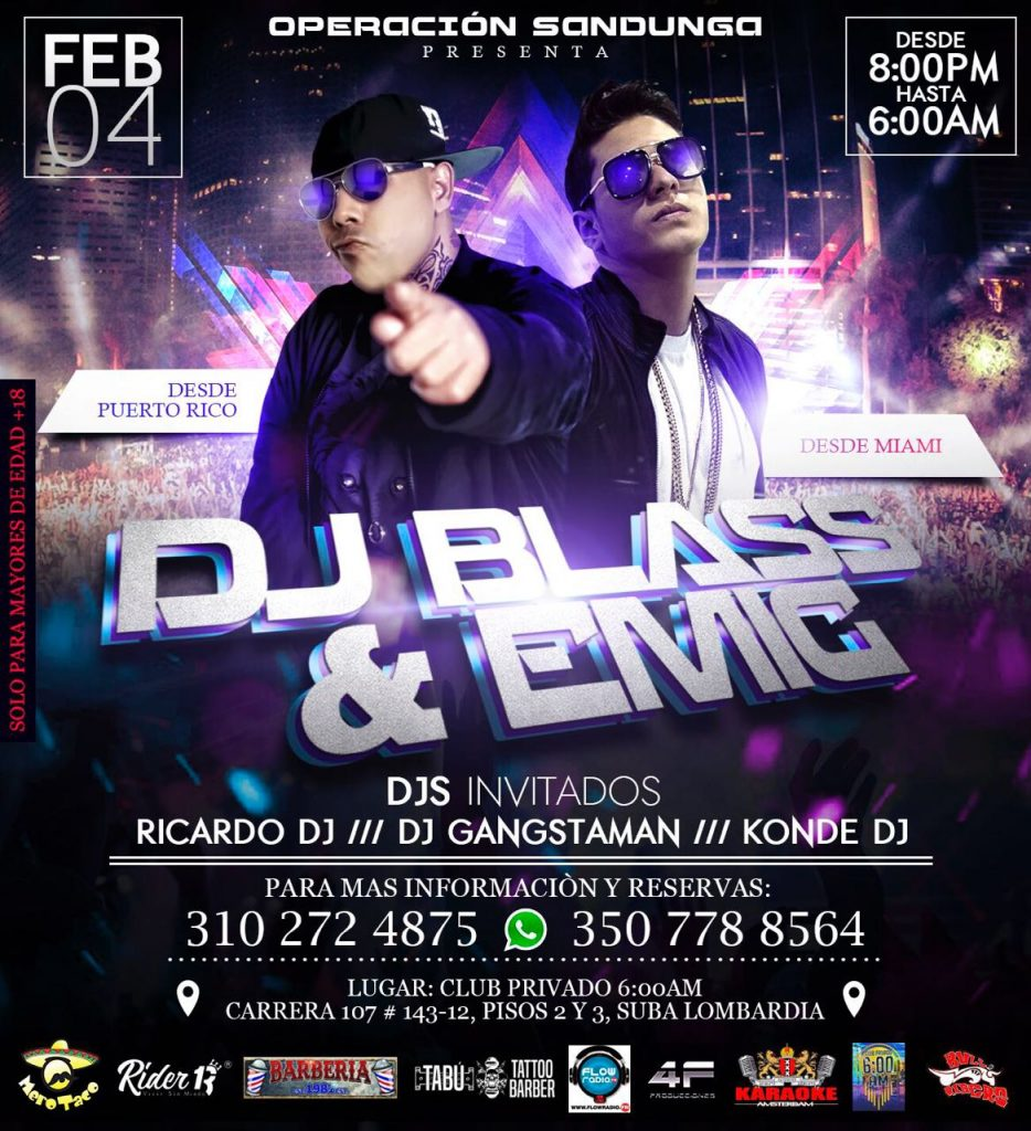 zxl4d1 - Evento: DJ Blass, Emig La Voz - Bogotá, Colombia (4 de Febrero)