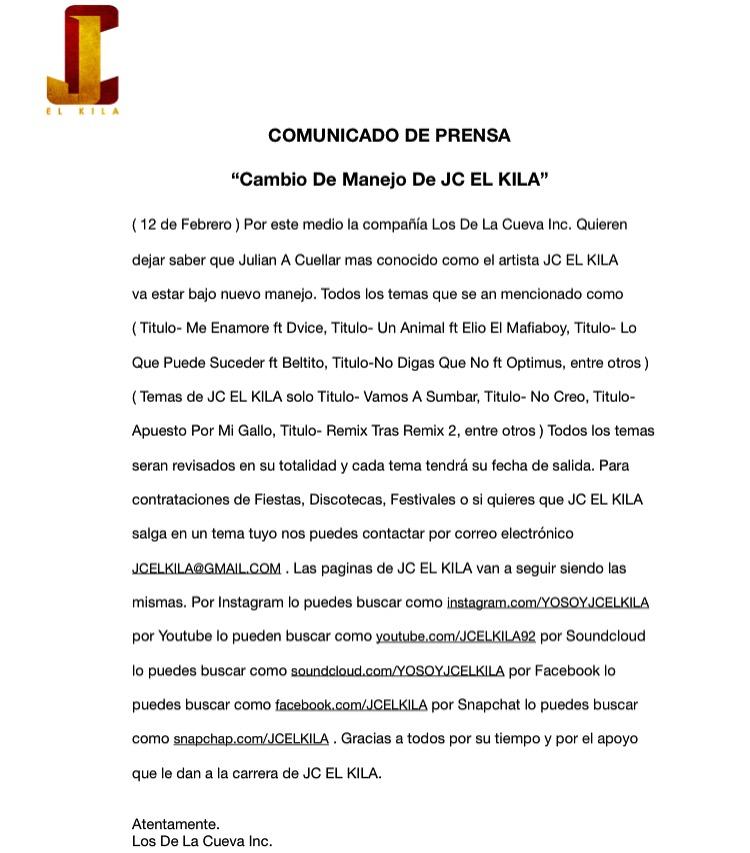 11147241 10153402300890982 662990696267578702 n 1 - Comunicado de Jc El Kila