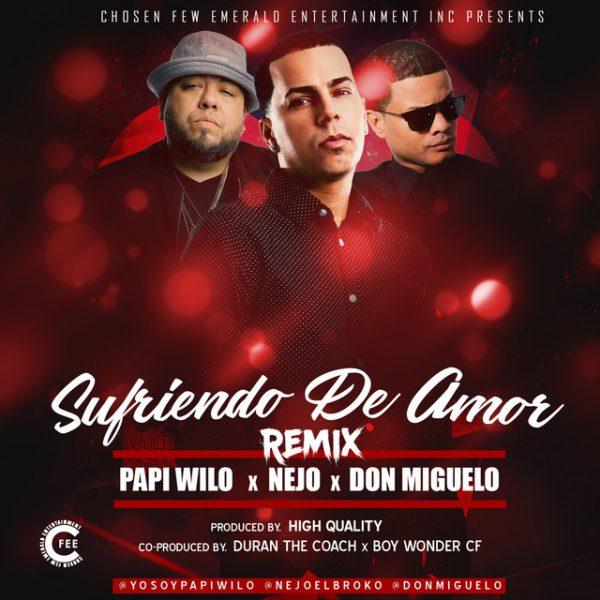 Papi Wilo Ft. %C3%91ejo Y Don Miguelo Sufriendo De Amor Official Remix 600x600 - Darell Ft. Papi Wilo - Otro Dia Mas