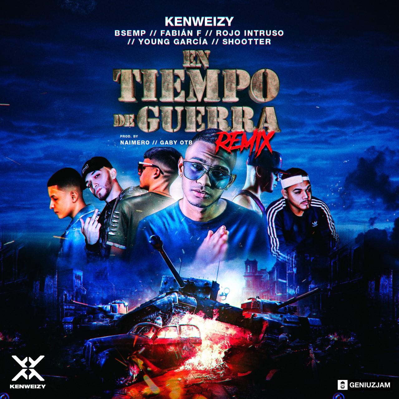 63e646c04f02eb1d8a9ae27c91f011175e4a32bf 1 - Kenweizy Feat B Semp, Fabian F, Rojo Intruso, Young Garcia y Shootter - Tiempo De Guerra