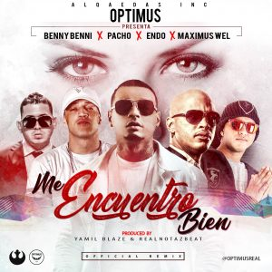 encu 300x300 - Optimus Ft. Benny Benni, Pacho, Endo y Maximus Wel – Me Encuentro Bien (Remix) (Video Lyric)