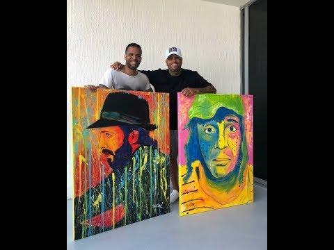31 - Nicky Jam luce en las redes sociales los cuadros artísticos de sus ídolos
