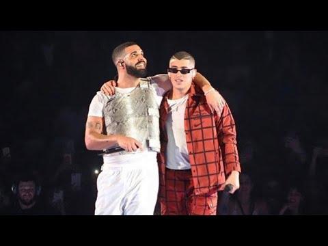 """0 25 - Bad Bunny canta """"Mia"""" en concierto de Drake"""