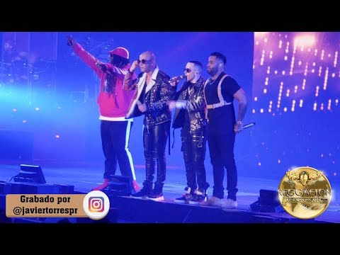 0 1 - Wisin y Yandel vs Zion y Lennox - En Tensión, Pam Pam, El Teléfono (Como Antes Tour Concierto) Live