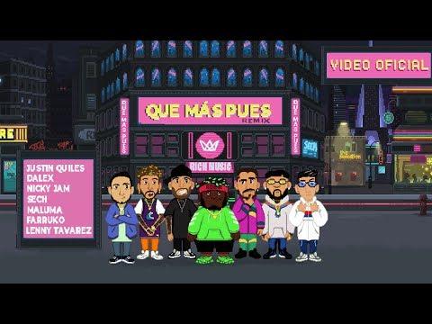 0 31 - Sech Ft. Justin Quiles, Maluma, Nicky Jam, Farruko, Dalex y Lenny Tavárez – Que Mas Pues (Official Remix)